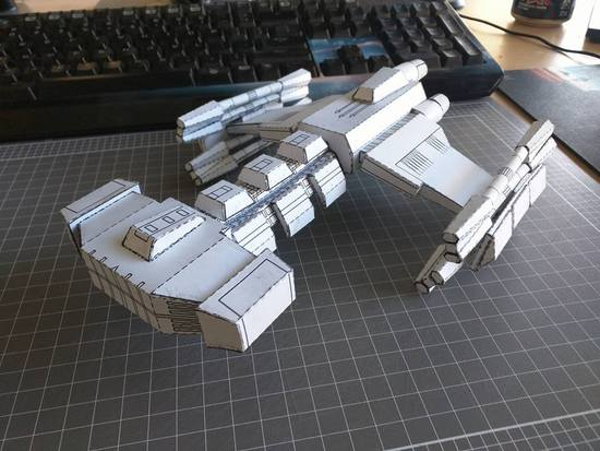 Finished battlecruiser front view