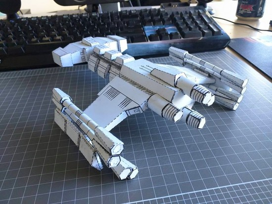 Finished battlecruiser back view