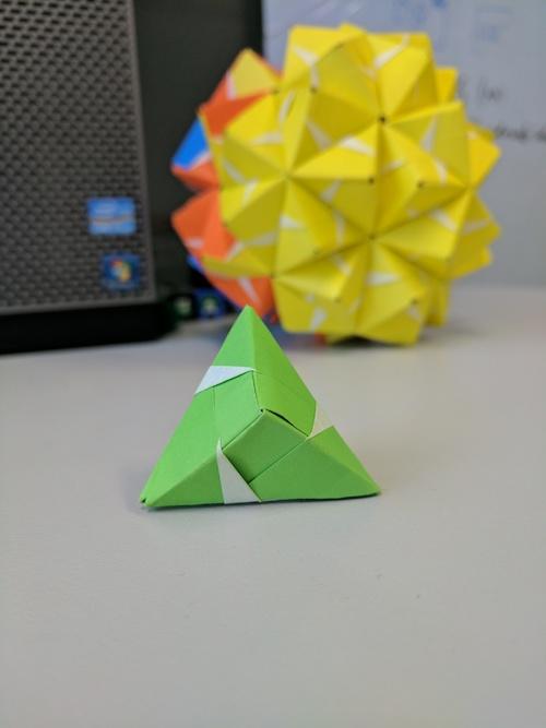 Four and ninety piece sonobe modular origami