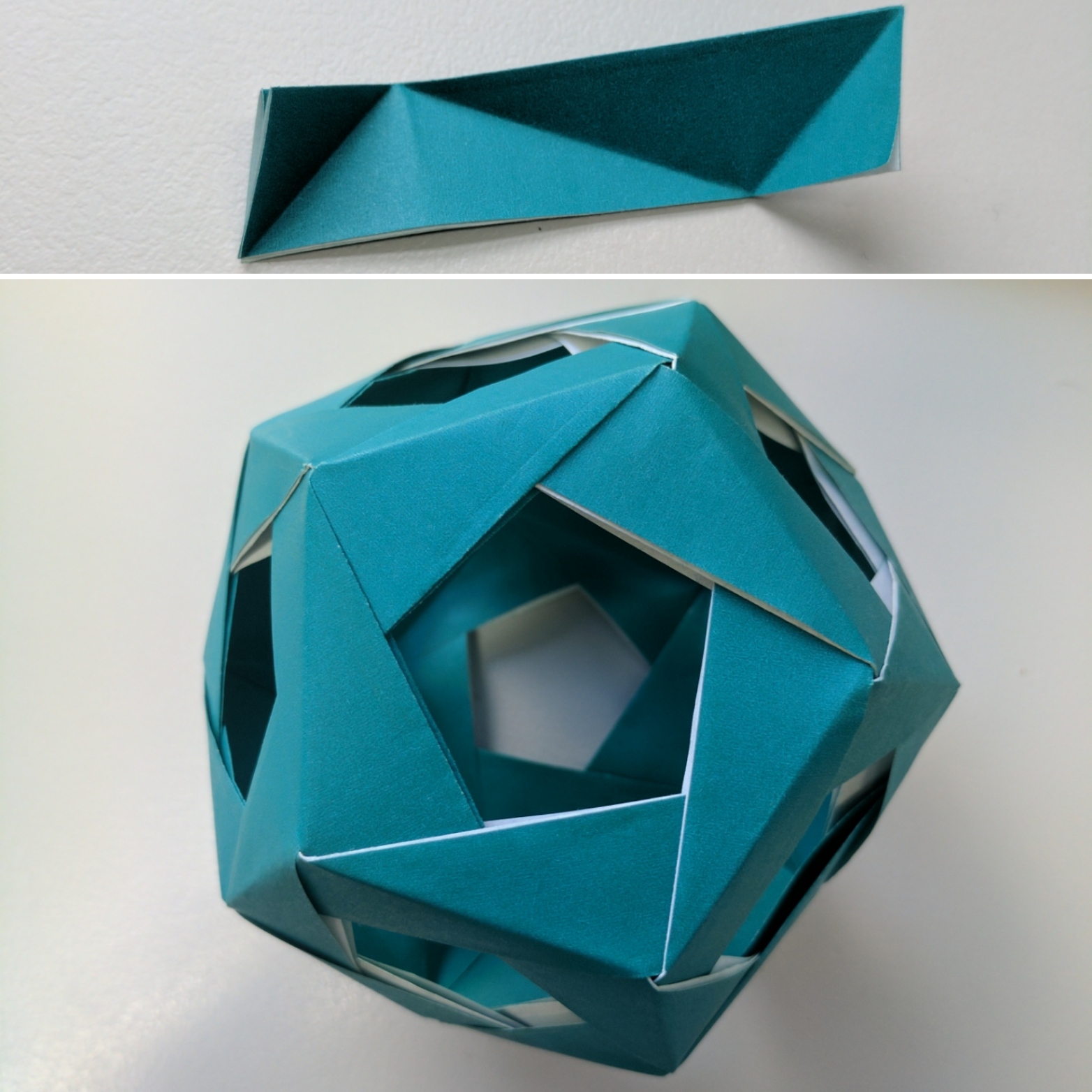 Modular origami dodecahedron